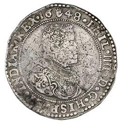 Brabant, Spanish Netherlands (Antwerp mint), portrait ducatoon, Philip IV, 1648, ex-Jones.
