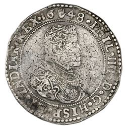 Brabant, Spanish Netherlands (Antwerp mint), portrait ducatoon, Philip IV, 1648, ex-Jones.