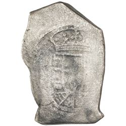 """Mexico City, Mexico, cob 8 reales, Philip V, assayer not visible (""""new"""" style of 1714J)."""