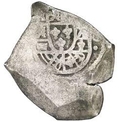 Mexico City, Mexico, cob 8 reales, Philip V, assayer not visible, ornament below denomination 8.