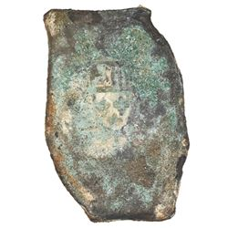 Mexico City, Mexico, cob 8 reales  greenie  (encrusted as found), Philip V, assayer not visible, ex-