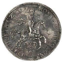 """Gelderland, United Netherlands, """"rider"""" ducatoon, 1734."""