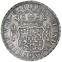 Mexico City, Mexico, pillar 8 reales, Philip V, 1734MF, ex-Jones.