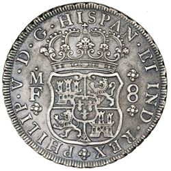 Mexico City, Mexico, pillar 8 reales, Philip V, 1734MF, ex-Jones.