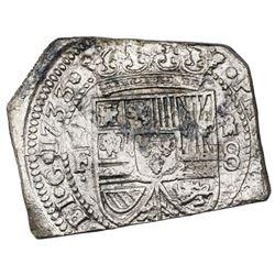 Mexico City, Mexico, klippe 8 reales, 1733MF, ex-Jones (Plate Coin).