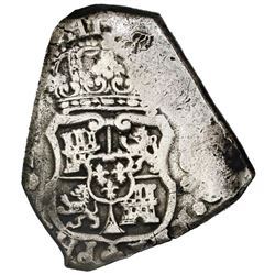 Guatemala, cob 8 reales, Philip V, assayer J, ex-Jones (Plate Coin).