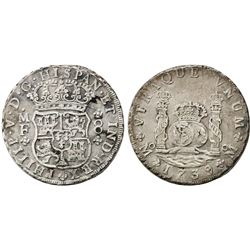 Mexico City, Mexico, pillar 8 reales, Philip V, 1738MF, in original box.