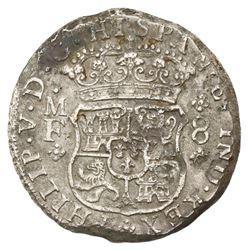 Mexico City, Mexico, pillar 8 reales, Philip V, 1744MF, ex-Holmes, ex-Jones.