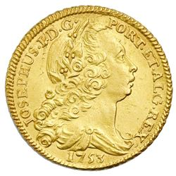 Lisbon, Portugal, gold peca (6400 reis or 4 escudos), Jose I, 1753.
