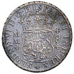 Mexico City, Mexico, pillar 8 reales, Ferdinand VI, 1756MM, ex-Jones.