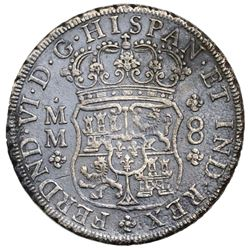 Mexico City, Mexico, pillar 8 reales, Ferdinand VI, 1756MM, ex-Jones.