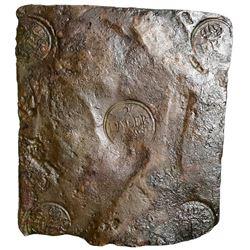 """Sweden (Avesta mint), copper 2 daler """"plate money,"""" Fredrik I, 1750, ex-Jones."""