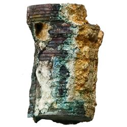 Encrusted stack (as found) of about 30(+/-) English East India Co. copper XX cash, 1808.