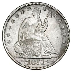 USA (Philadelphia mint), Seated Liberty half dollar, 1853, arrows and rays, NGC SS Republic / Shipwr