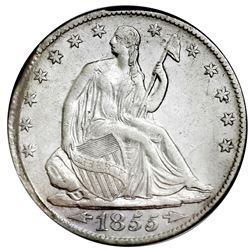 USA (New Orleans mint), Seated Liberty half dollar, 1855-O, arrows, NGC SS Republic / Shipwreck Effe