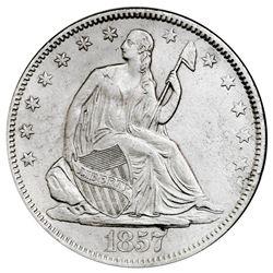 USA (Philadelphia mint), Seated Liberty half dollar, 1857, NGC SS Republic / Shipwreck Effect.