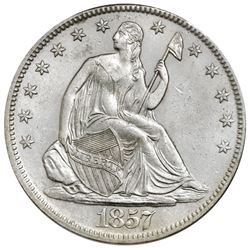 USA (New Orleans mint), Seated Liberty half dollar, 1857-O, NGC SS Republic / Shipwreck Effect.