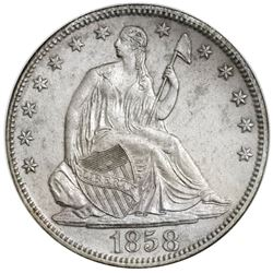 USA (New Orleans mint), Seated Liberty half dollar, 1858-O, doubled 1 variety, NGC SS Republic / Shi