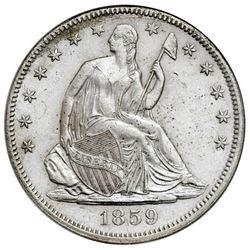 USA (Philadelphia mint), Seated Liberty half dollar, 1859, NGC SS Republic / Shipwreck Effect.