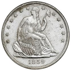 USA (Philadelphia mint), Seated Liberty half dollar, 1859, NGC SS Republic / Shipwreck Effect.