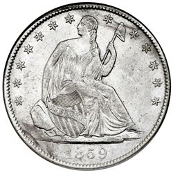 USA (New Orleans mint), Seated Liberty half dollar, 1859-O, NGC SS Republic / Shipwreck Effect.