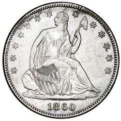 USA (Philadelphia mint), Seated Liberty half dollar, 1860, rare, NGC SS Republic / Shipwreck Effect.