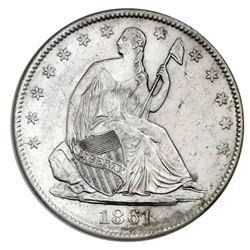 USA (New Orleans mint), Seated Liberty half dollar, 1861-O, Louisiana issue (die W-07), NGC SS Repub