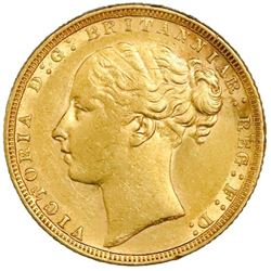 Great Britain (London, England), gold sovereign, Victoria (young head), 1871, St. George reverse, ho