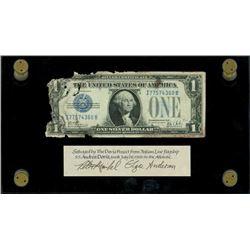 USA, silver certificate, $1, series 1928B, serial I77574360B, Woods-Mills, very rare, ex-Malone.