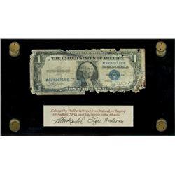 USA, silver certificate, $1, series 1935C, serial M5290710E, Julian-Snyder, ex-Malone.