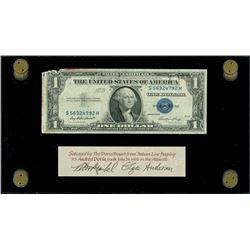 USA, silver certificate, $1, series 1935E, serial S56324792H, Priest-Humphrey, ex-Malone.