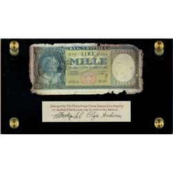 Italy, Banca D'Italia, 1000 lire, 10-2-1948, serial N165 / 017212, ex-Malone.