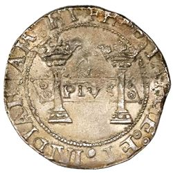 """Mexico City, Mexico, 4 reales, Charles-Joanna, """"Early Series,"""" assayer P to left, mintmark M to righ"""