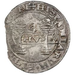 """Mexico City, Mexico, 4 reales, Charles-Joanna, """"Early Series,"""" assayer F to right, mintmark M to lef"""