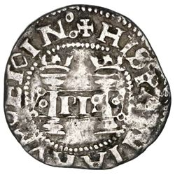 Mexico City, Mexico, 1/2 real, Charles-Joanna,  Early Series,  assayer P to right, mintmark M to lef