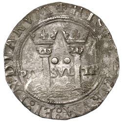 "Mexico City, Mexico, 2 reales, Charles-Joanna, ""Late Series,"" assayer L/O to left, mintmark oM to ri"