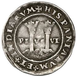 """Mexico City, Mexico, 1 real, Charles-Joanna, """"Late Series,"""" no assayer (G) to right, mintmark M to l"""