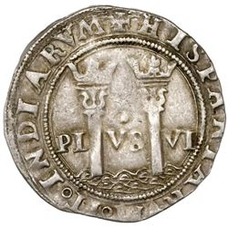 """Mexico City, Mexico, 1 real, Charles-Joanna, """"Late Series,"""" assayer O/L to right, mintmark M to left"""