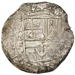 Mexico City, Mexico, cob 8 reales, Philip III, assayers F-oD, variety with 8-F to left and (oMoD) to