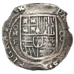 Mexico City, Mexico, cob 8 reales, Philip III, assayer F, fleur ornaments in legends, ex-Jones (Plat