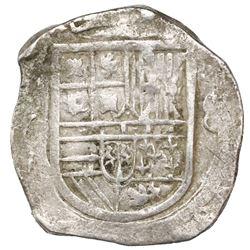 Mexico City, Mexico, cob 8 reales, Philip III, assayer not visible (F), fleur ornaments in legends.