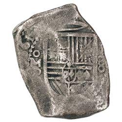 Mexico City, Mexico, cob 8 reales, 1661P, rare.