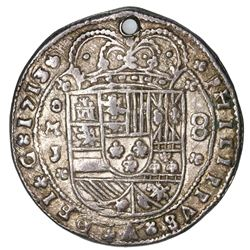 Mexico City, Mexico, cob 8 reales Royal (galano), 1713J, unique, ex-Rudman.