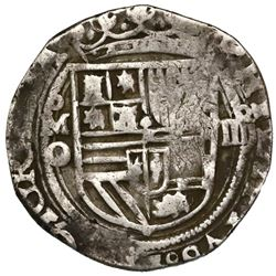 Mexico City, Mexico, cob 4 reales, Philip II, assayer O below mintmark oM to left, denomination o-II