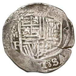 Mexico City, Mexico, cob 4 reales, Philip III, assayer F, unique error with last letter of king's na