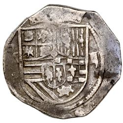 Mexico City, Mexico, cob 2 reales, Philip III, assayer not visible (F).