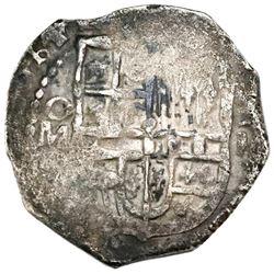 Mexico City, Mexico, cob 2 reales, (1)614(F), rare.