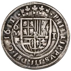 Mexico City, Mexico, cob 1 real Royal (galano), 1611/10/09F/A, unique, ex-Rudman.