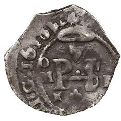 Mexico City, Mexico, cob 1/2 real, 1611/10/09F/A.