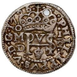Mexico City, Mexico, cob 1/2 real Royal (galano), 1726D.